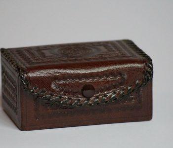 boîte à bijoux en cuir